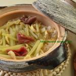 里山の精進料理_フキご飯