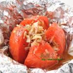 トマトのオーブン焼き アツアツホクホク!