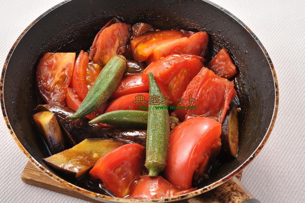 トマトを使った精進料理2品