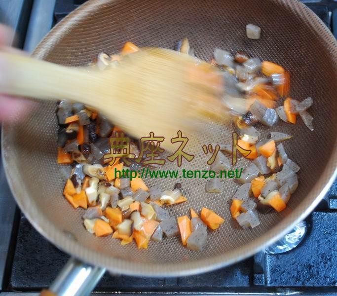 菜の花のおから炒め_調理手順
