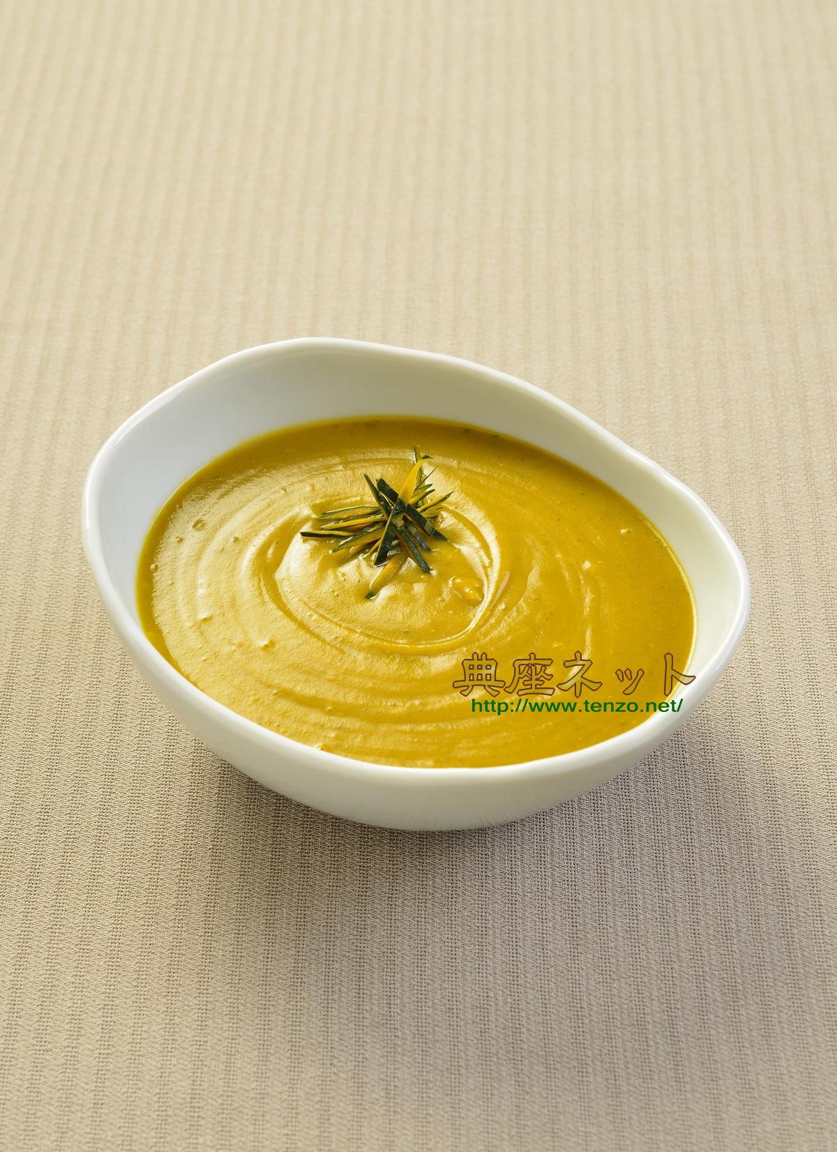 カボチャの濃厚精進スープ