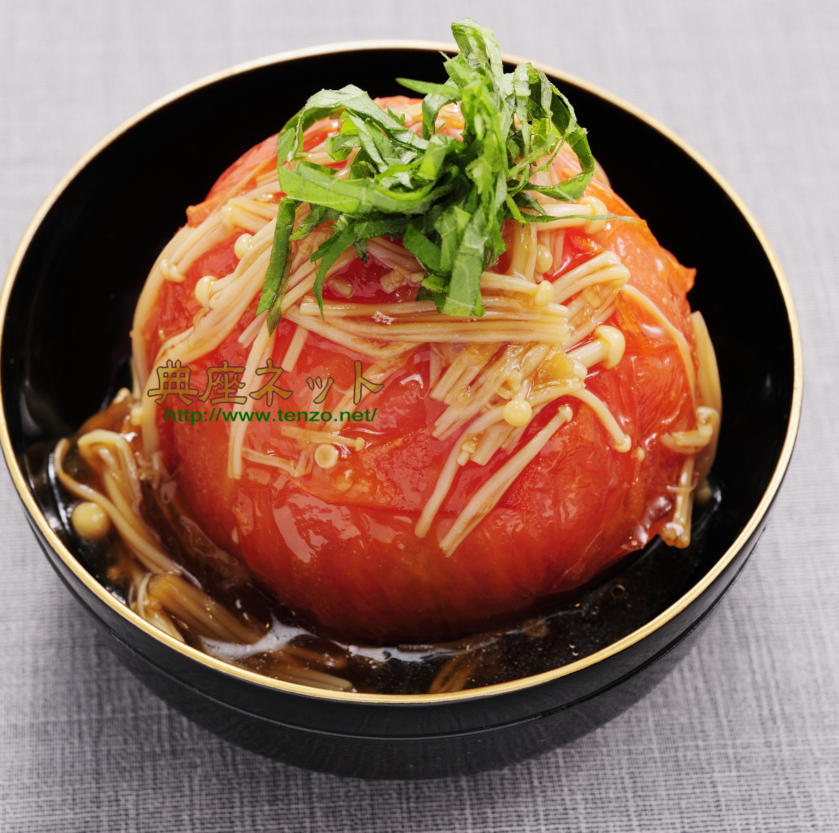 トマトの丸揚げレシピ_お盆の精進料理