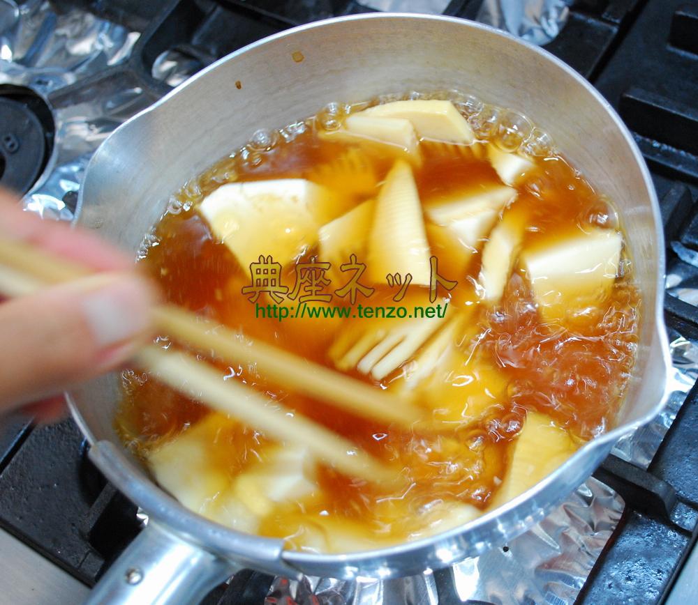 タケノコと豆腐のくずとき汁_精進料理手順