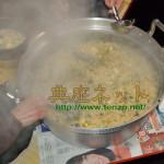 お寺の新年会_鏡餅入りの七草がゆでおもてなし
