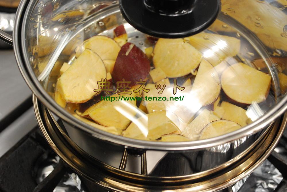 サツマイモのすり流し汁_お彼岸のお供え精進料理膳