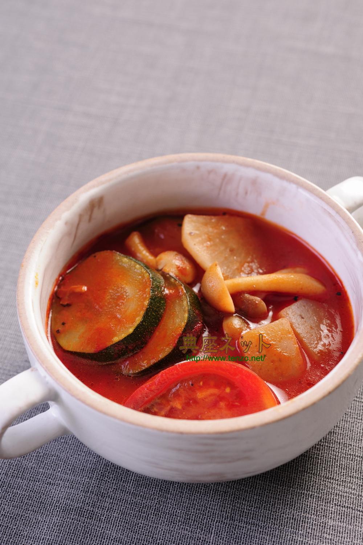 夏の精進トマト汁_お盆のお供えレシピ