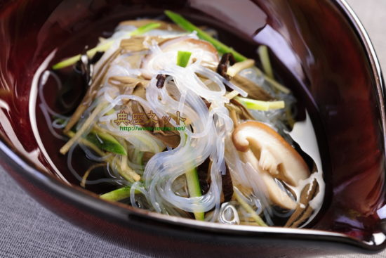 夏の涼やか春雨酢の物_お供え精進料理