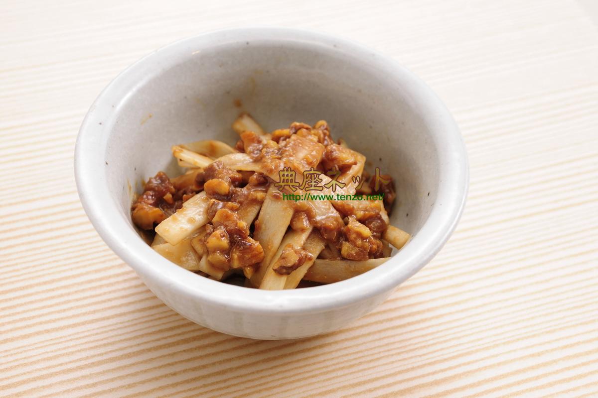 うどのくるみ味噌和合_精進料理
