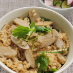 平成28年秋彼岸のお供え膳_炒めゴボウの炊き込み玄米ご飯