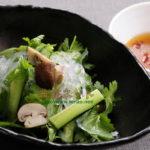 パクチーの韓国風春雨サラダ