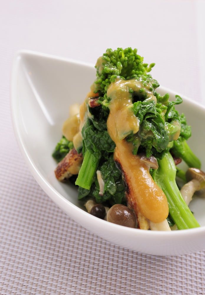 菜の花の辛子酢味噌レシピ